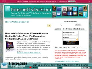 How To Watch Internet TV Online