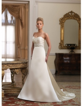 apple shaped wedding dress