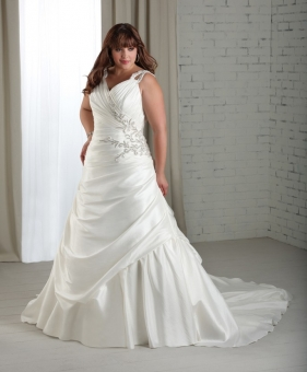 full figure wedding dress