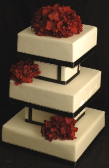 wedding cake with different shapes