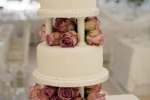 pillars wedding cake