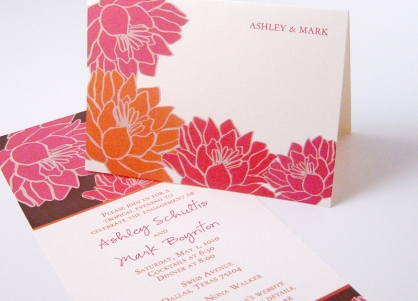 flowers on your wedding invitations