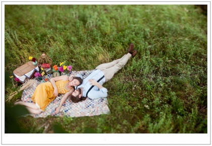 engagement session with a theme