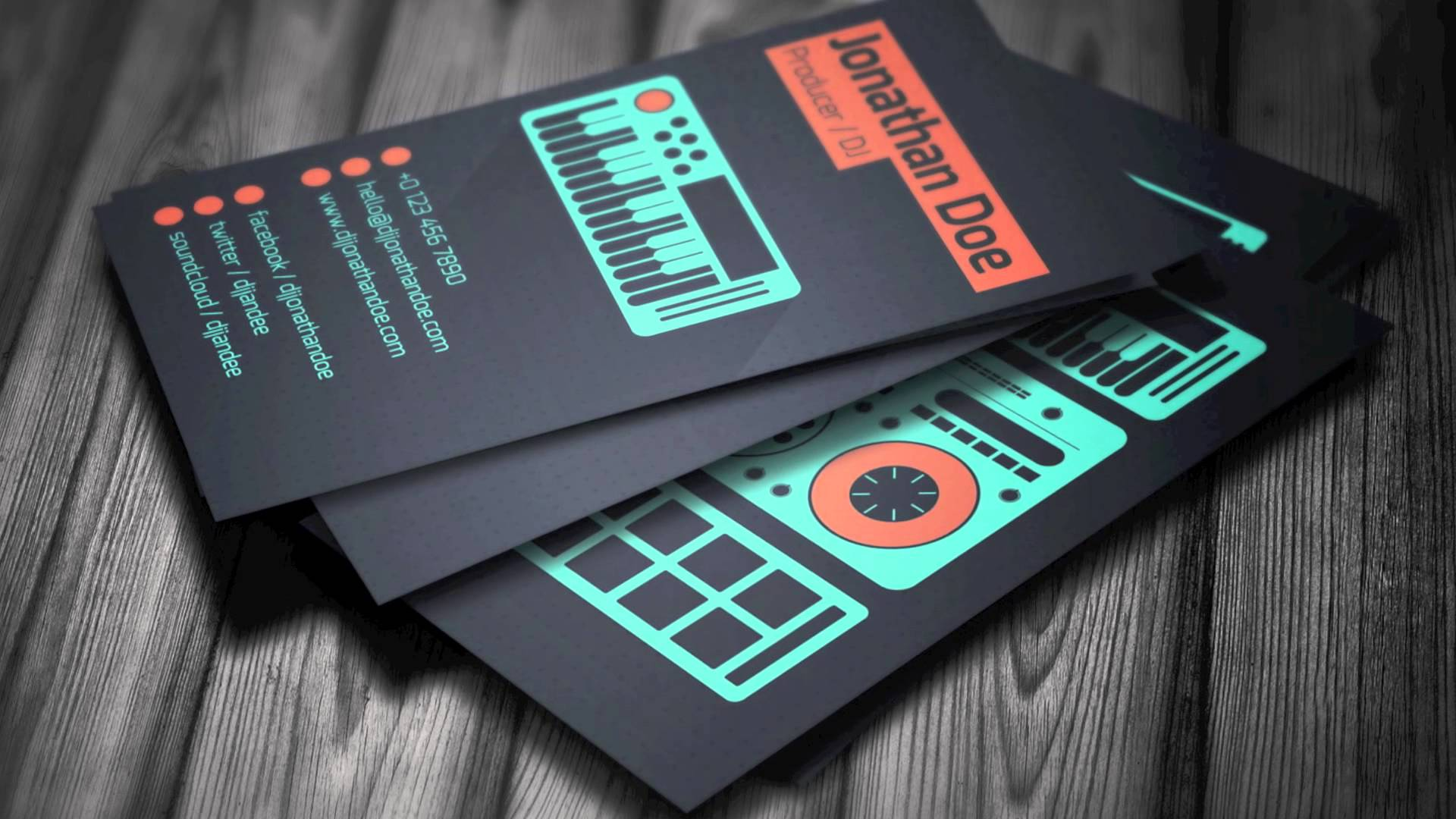 Design a business card that rocks